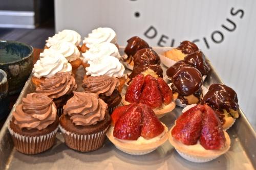 tray of gluten free desserts